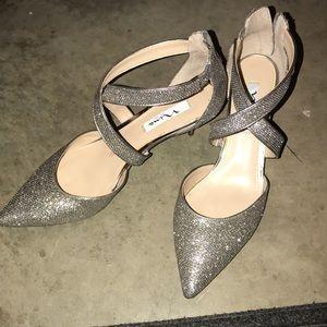 Sparkled high heels